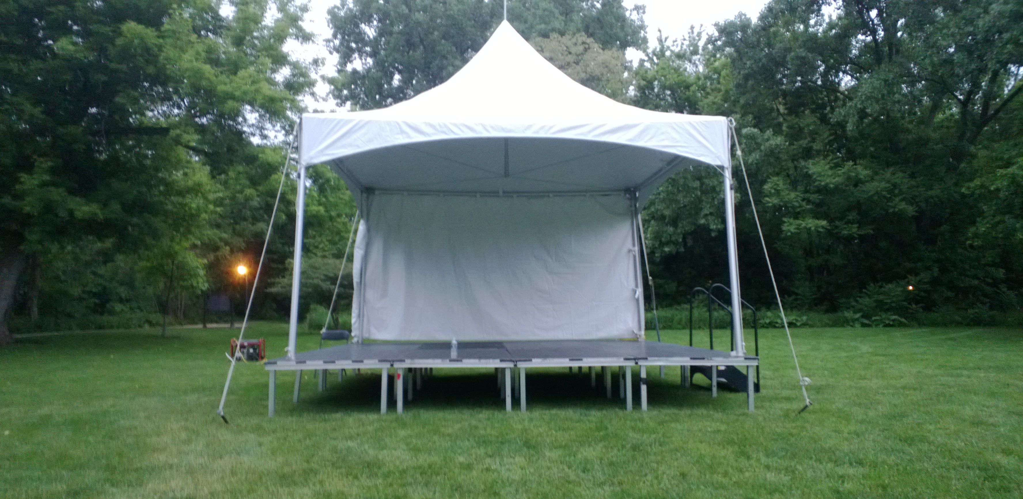 Tent in park
